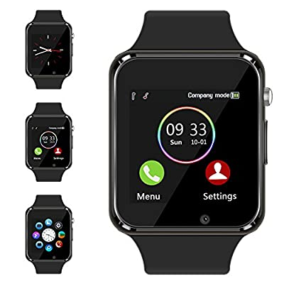 Bluetooth Smart Watch - Aeifond Newest Touch Screen Sport Smart Wrist Watch Smartwatch Phone Fitness Tracker With Camera SIM TF Card Slot for iPhone Samsung Android for Men Women Kids