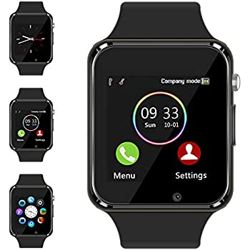 Bluetooth Smart Watch - Aeifond Touch Screen Sport Smart Wrist Watch Smartwatch Fitness Tracker Camera Pedometer SIM TF Card Slot Compatible Samsung Android ...