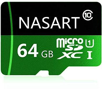 NARAST - Tarjeta Micro SD de 64 GB de Alta Velocidad Clase 10 con Adaptador Gratuito para Smartphones Android, tabletas 64 GB