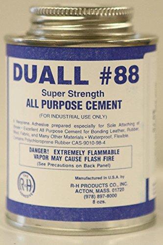 Duall-88 Neoprene Cement Shoe Care Repair Glue Adhevise 8 oz