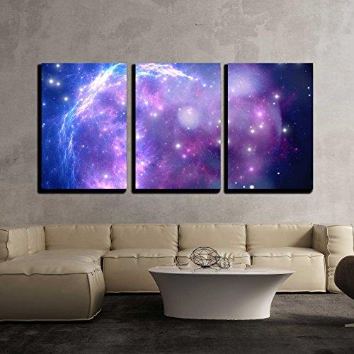 Purple Space Nebula x3 Panels