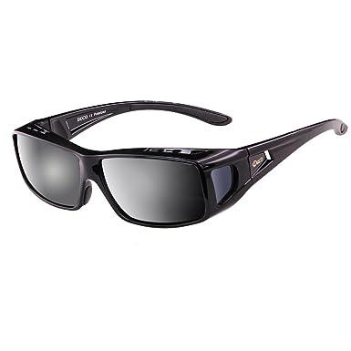 7edbce00afc Duco Unisex Wear Over Prescription Glasses Rx Glasses Polarized Sunglasses  8955 (Matte black)  Amazon.co.uk  Clothing