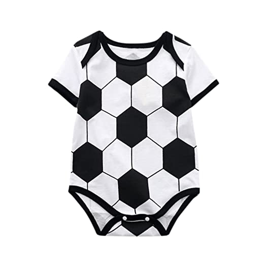 1dc6d1572fe9 Amazon.com  Goodlock Toddler Kids Fashion Romper Baby Girls Romper Soccer  Print Jumpsuit Playsuit Outfits  Clothing