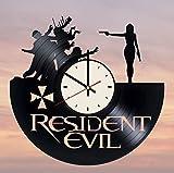 Resident Evil Vinyl Wall Clock Biohazard Unique Gifts Living Room Home Decor