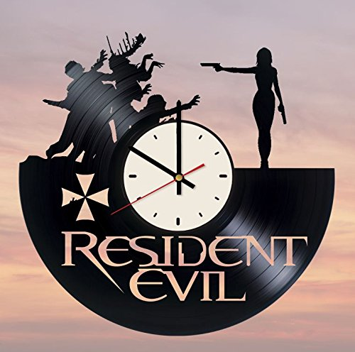 - Resident Evil Vinyl Wall Clock Biohazard Unique Gifts Living Room Home Decor