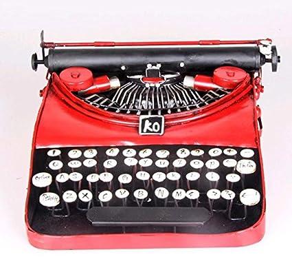 LD&P Accesorios de la impresora retro Modelo de máquina de escribir rojo Muebles de diseño Muebles