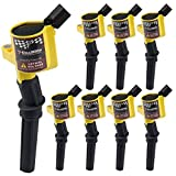 High Performance Ignition Coil Set of 8 for Ford Lincoln Mercury 4.6L 5.4L V8 Compatible with DG508 C1454 C1417 FD503 offers