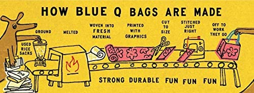 Blue Q Jumbo Pouch Made Out of 95/% Recycled Materials The Painter QA1120 10.25 by 13.75 Inches