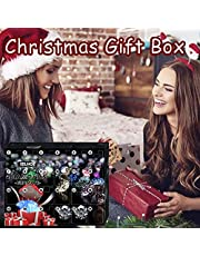 Christmas Advent Calendar 2021, 24 Days Countdown Calendar to Christmas with 24 Charms Surprise Small Gifts, Christmas Party Holiday Favors Supplies for Boys, Girls, Kids and Toddlers Women