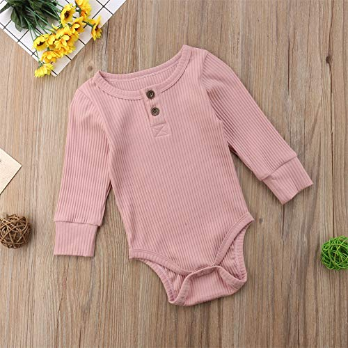 Emmababy Newbown Baby Boys Girls Knitted Sweather Rompers Sleepwear Long Sleeves Pajamas Fall Winter Bodysuit Pink by Emmababy (Image #4)