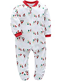 Baby Footed Pajama - 100% Cotton Zip Front Sleep and Play Sleeper - by