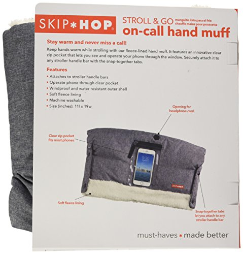 Skip Hop Stroll-and-Go Three-Season Hand Muff, One Size, Heather Grey by Skip Hop (Image #7)