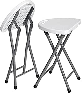 Zimmer Folding Stool Set Of 2 Portable Plastic Chair