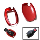 iJDMTOY (1) Exact Fit Gloss Metallic Red Smart Remote Key Fob Shell For Mercedes-Benz C E S M CLS CLK GLK GL Class, etc