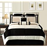 Fashion Street Black Gramercy 12-Piece Bed-In-a-Bag, King