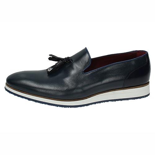 JR JIMENEZ 121 Mocasines DE Piel Hombre Zapatos MOCASÍN Azul 39