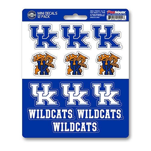Kentucky Decal Set - ProMark NCAA Kentucky Wildcats Decal Set Mini (12 Pack), Team Color, One Size