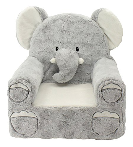 Sweet Seats Adorable Elephant Children's Chair Ideal for Children Ages 2 and up, Machine Washable Removable Cover,14' L x 19' W x 20' H