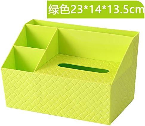 XXAICW Escritorio simple multifuncional bandeja plástico tejido hogar caja la mesa de centro de salón final caja de almacenamiento, Verde: Amazon.es: Hogar