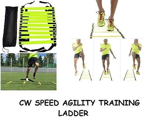 CW marca nueva velocidad agilidad escalera 4,6,8 metros de longitud con ajustable soporte de