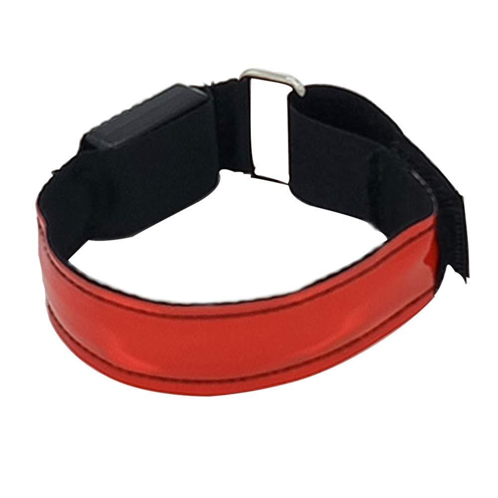 Dyfree Wiederaufladbares Laufarmband mit LED-Lichtern Blinkendes reflektierendes LED-Armband zum Laufen bei Nacht, Joggen, Radfahren, Hund Spazierengehen, 2er Pack