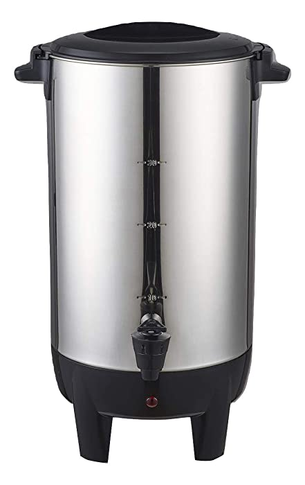 Dominion 30 Cup Coffee Urn and Hot Beverage Dispenser, DK30V2, Stainless Steel, Fast Brewing, Automatic Temperature Control, Power Indicator Light, Easy Prep & Easy Clean Up