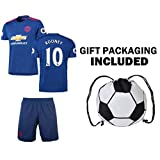Fan Kitbag Wayne Rooney #10 Manchester United Soccer Jersey & Shorts Kids Youth Sizes ✓ ✓ Short Sleeve OR Long Sleeve ✓ Soccer Backpack INCLUDED