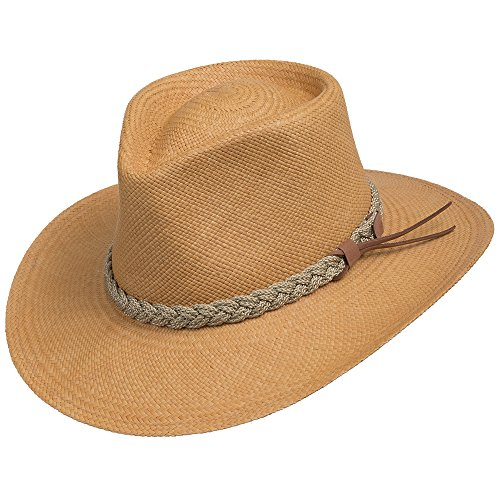 Authentic Aficionado Straw Panama Hat Putty 7 5/8 by Ultrafino