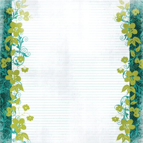 Prima 534820 12 by 12-Inch Art Stitched Mulberries Paper, Fairy Hugs Art Stitched Mulberry Paper