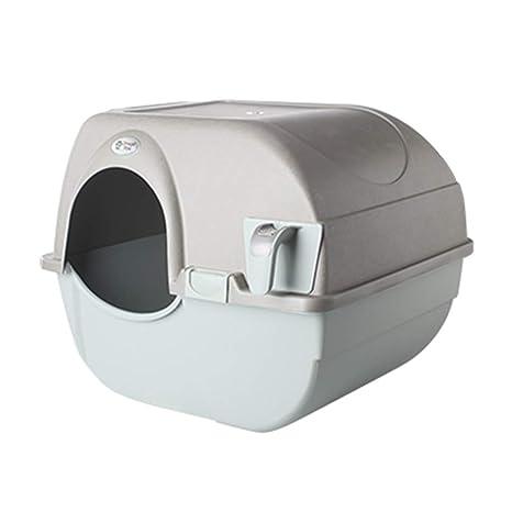 Wcx Gatos Arenero Aseo,Bandeja Baño De Gato Mascota Suministros Semiautomático Arena para Gatos (
