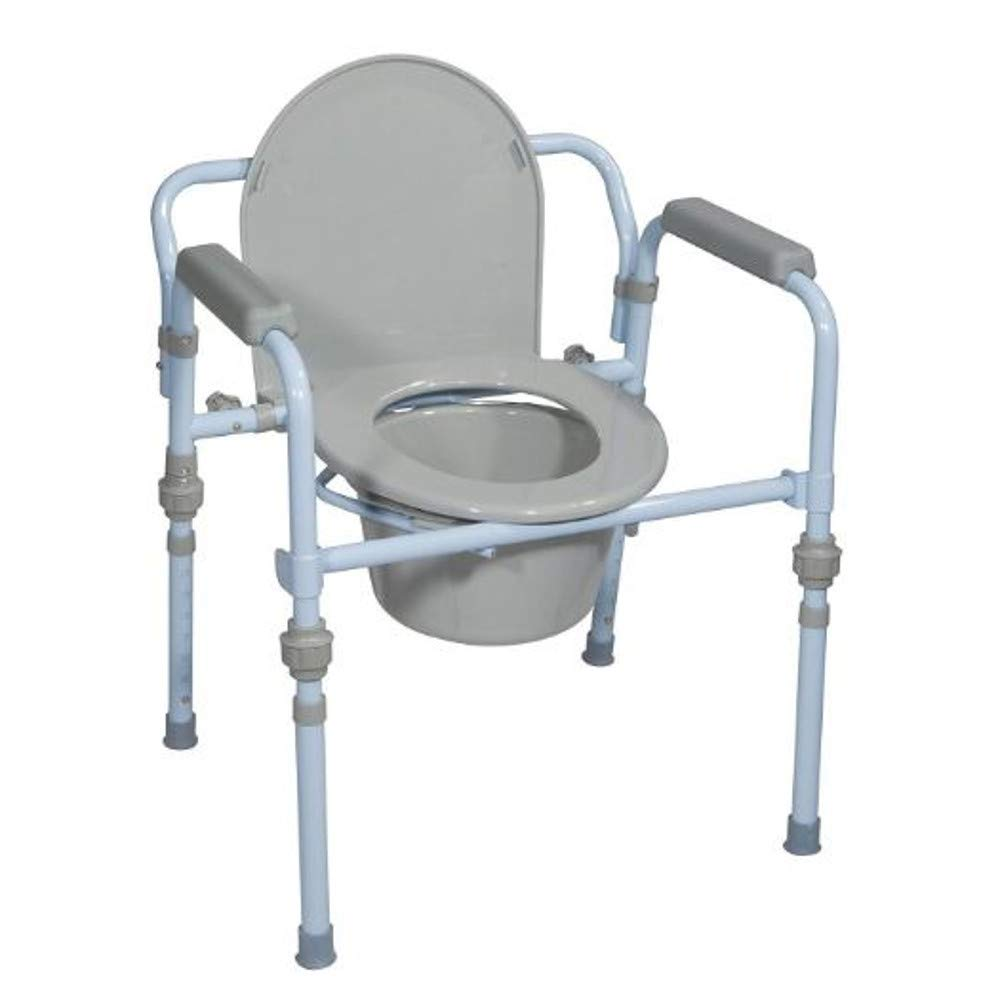 Toilet Chair with Bucket Handicap Toilet Potty Chair Portable Over Toilet Bathroom for Toilet Adult Toileting Medical Arm Chair & Ebook by Easy2Find.