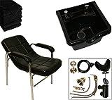 LCL Beauty Shampoo Package: Comfort-Curve Slingback Shampoo Chair & ABS Shampoo Bowl