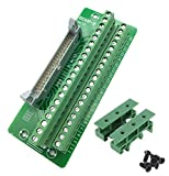 (US) Sysly IDC40 2x20 Pins Male Header Breakout Board Terminal Block Connector with Simple DIN Rail Mounting feet