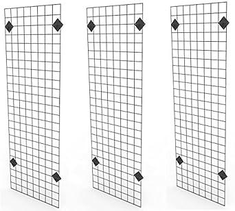 Amazon.com: Only Garment Racks 2' x 6' Black Wire Grid