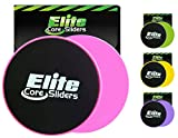dream home flooring Elite Sportz Exercise Sliders are Double Sided and Work Smoothly on Any Surface. Wide Variety of Low Impact Exercise's You Can Do. Full Body Workout, Compact for Travel or Home - Pink