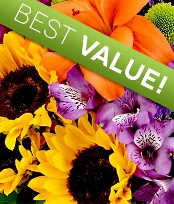Flower Delivery Florist Designed Bouquet Free Vase Included