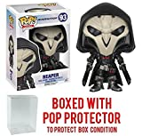 Funko Pop! Games: Overwatch Action Figure - Reaper Bundled with Box Protector