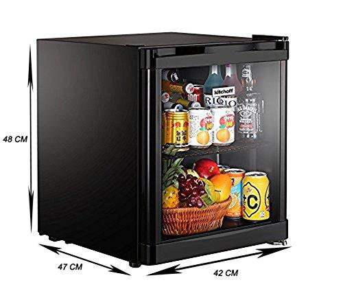 Perfect Kitchoff Black 50 Litre Aluminium U0026 Glass Door Mini Refrigerator For Home U0026  Office(Kitchoff001): Amazon.in: Home U0026 Kitchen