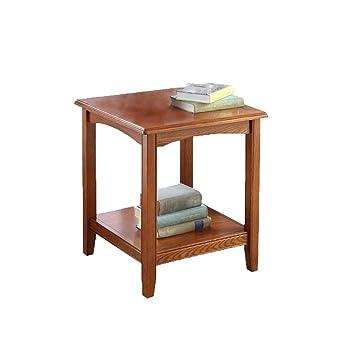 Amazon.com: ZHFHA Mesa de café pequeña de madera maciza ...