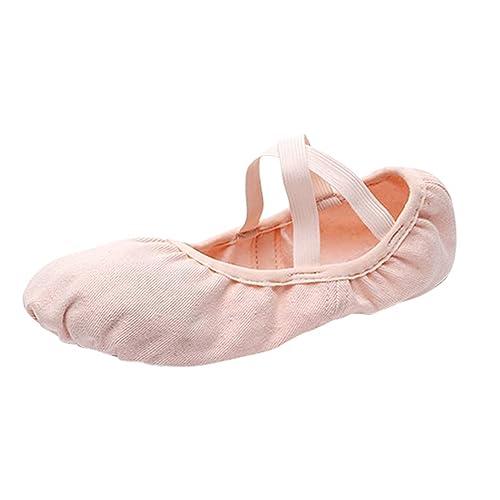 YAANCUNN Zapatillas Media Punta de Ballet Suela Partida de Cuero Zapatos de Ballet: Amazon.es: Zapatos y complementos