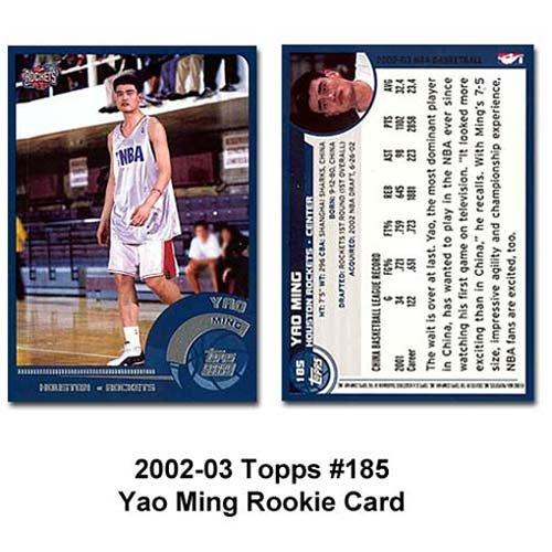 Topps Houston Rockets Yao Ming 2002-03 Rookie Card ()