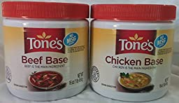 Tone\'s Chicken Base and Beef Base Variety Bundle, 2 Pack, 16 Ounce Paste