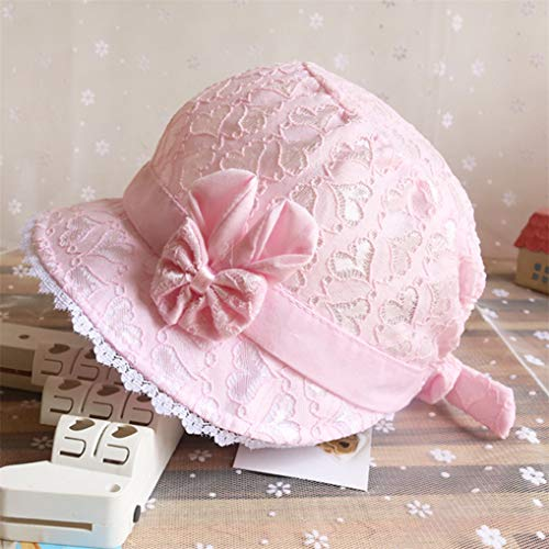 - Modsnde Little Kids Toddlers Classic Breathable Sun Protection Hat Hollow Beach Bucket Hats with Bow Eyelet Lace Trimmed Cute Photography Accessories