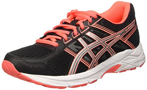 Coral Nero Gel Asics Donna Running Contend Black 4 Flash Silver Scarpe HvwqwFSWY