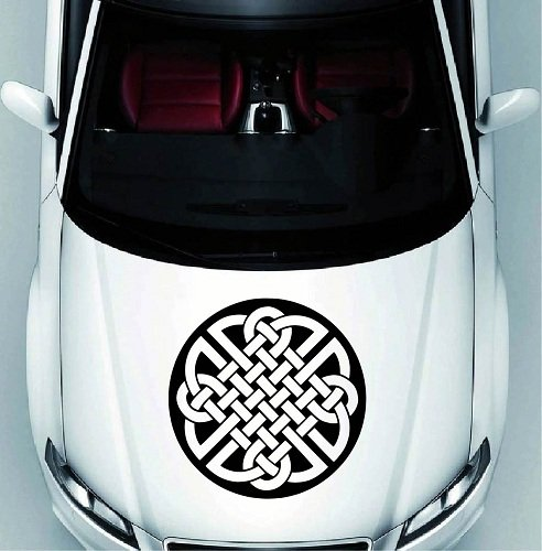 In-Style Decals Vehicle Auto Car Décor Vinyl Decal Art Sticker Celtic Circle Ornament Removable Design for Hood 1175