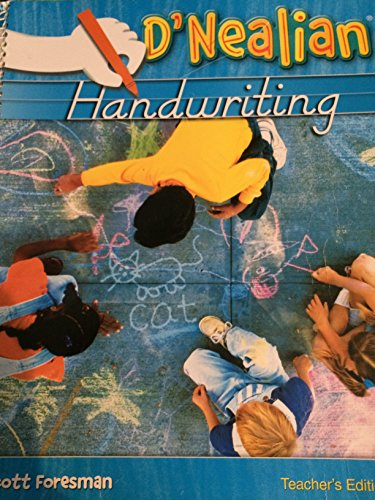 Scott Foresman-Addison Wesley: D'Nealian Handwriting - Teacher's Edition - Grade 1