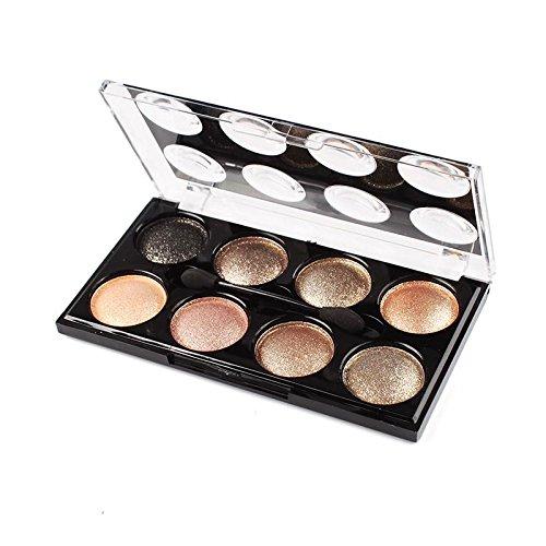 KeyZone 8 Colors Eyeshadow Palette Set Makeup Brush in 8#