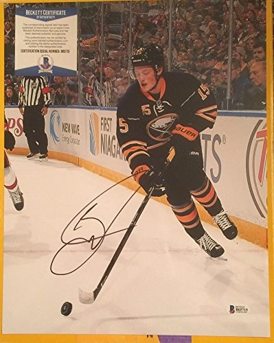 Jack Eichel Signed Autograph 11x14 Buffalo Sabres Photo Beckett Certified (Signed Photo Nhl Sabres Buffalo)