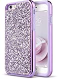iPhone 6 Case, iPhone 6S Case, UrbanDrama Luxury Glitter Sparkle Bling 2 in 1 Ultra Slim Shockproof Case TPU Bumper Hard PC Back Protective Cover for Apple iPhone 6/6s 4.7
