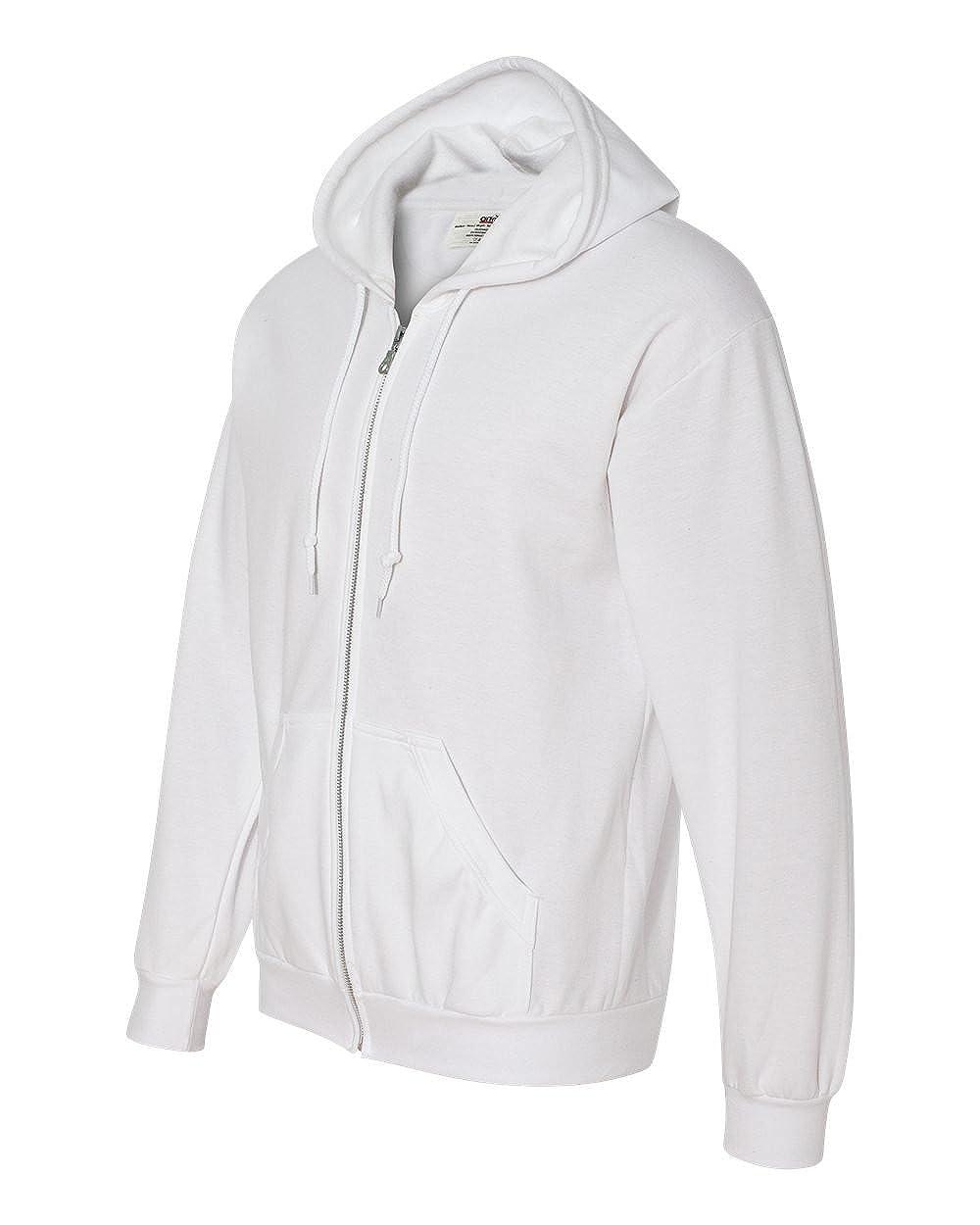 White 3XL Clementine Mens Combed Ringspun Fashion Fleece Full-Zip Hood 71600